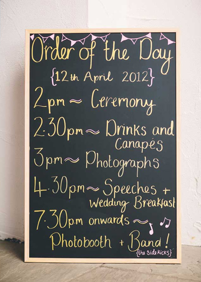 The Traditional Wedding Day Running Order - Warwick House