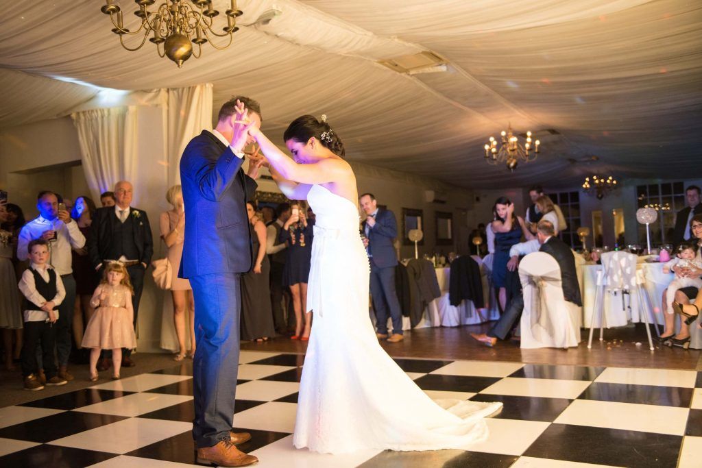 Wedding Dancefloor at Warwick House