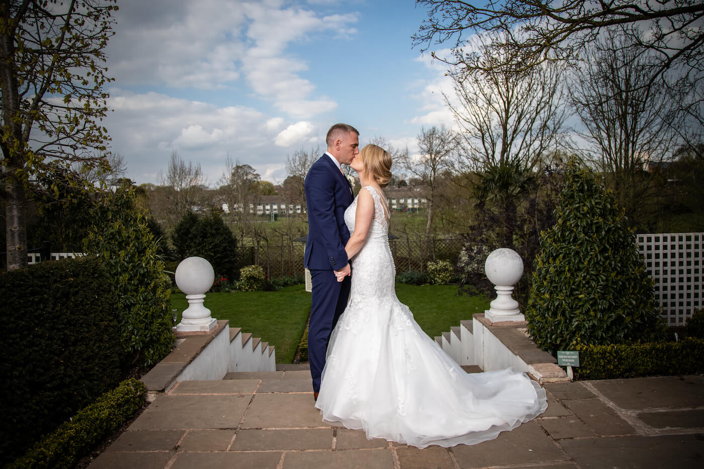 Outdoor wedding at Warwick House