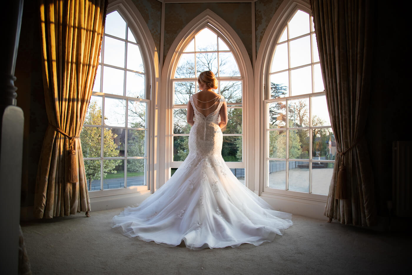Bride in Bridal Suite at Warwick House