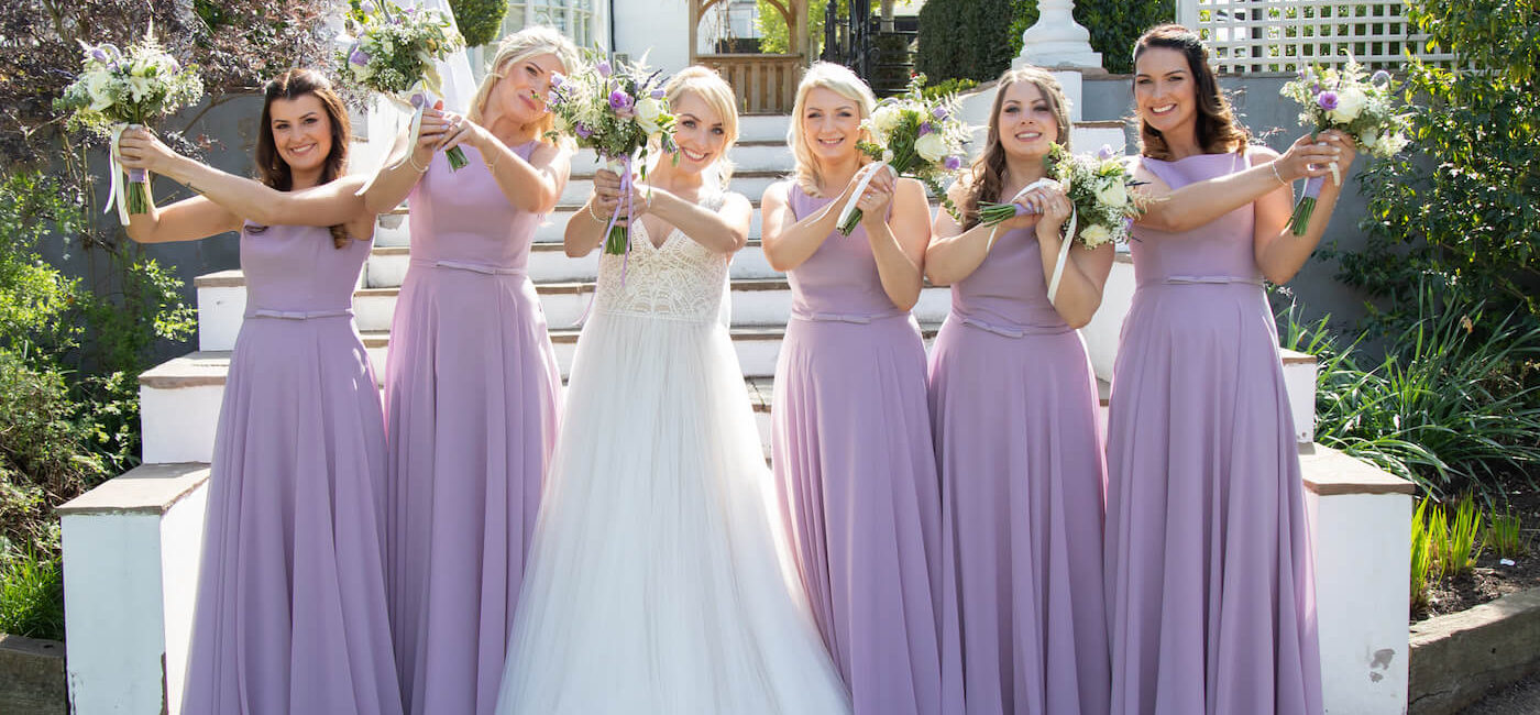 Purple themed wedding at Warwick House